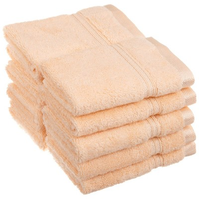 Warm and Absorbent Cotton Assorted 10-Piece Face Towel Set - Blue Nile Mills