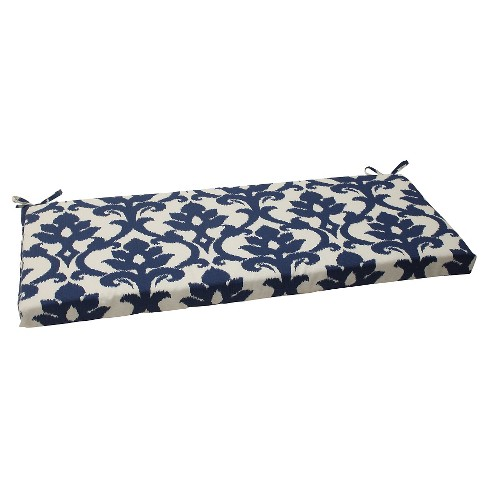 Outdoor Bench Cushion Blue White