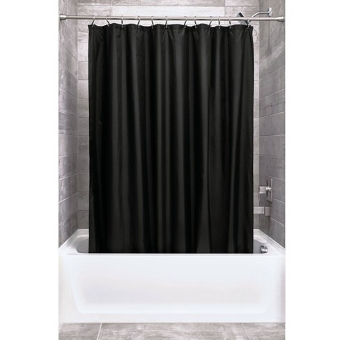 Shower Curtain Liner With Rollerz Black - iDESIGN - image 1 of 4