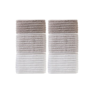 2pc Planet Hand Towel Set Taupe Brown - Saturday Knight Ltd.