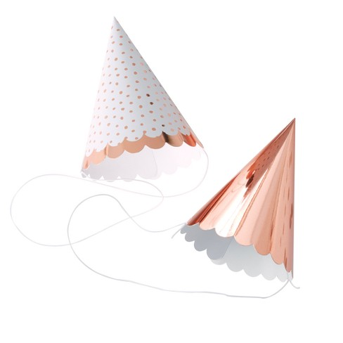 9e52358148a 6ct Ginger Ray Rose Gold Foiled Party Hats Pick And Mix   Target