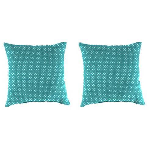 Outdoor Set Of 2 Accessory Toss Pillows In Mini Dots Ocean - Jordan Manufacturing - image 1 of 2
