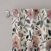 Mona Floral Blackout Curtain Panel Lavender - Cloth & Co. - image 2 of 6