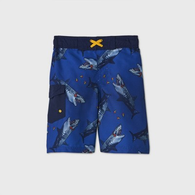 Boys' Shark Pizza Print Swim Trunks - Cat & Jack™ Blue