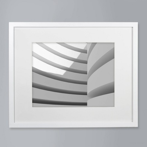 """11"""" x 14"""" Matted Wood Frame White - Made By Design™ - image 1 of 4"""