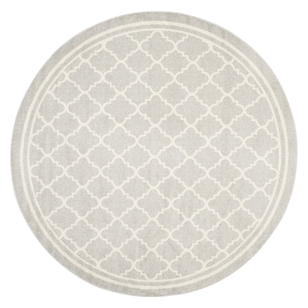 Camembert Rug 5'X5' Round - Light Gray/Beige - Safavieh