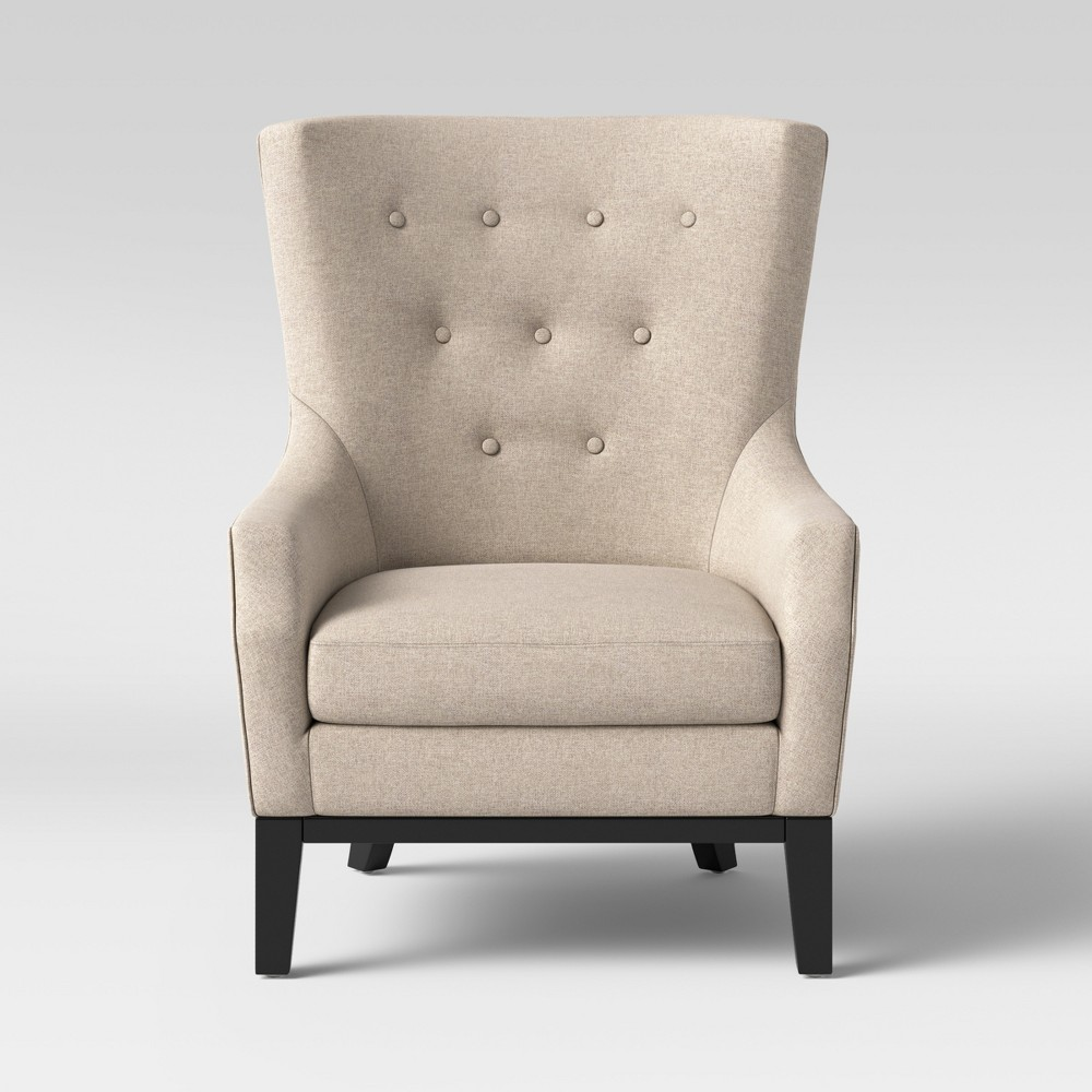 Lewiston Wingback Arm Accent Chair Taupe (Brown) - Threshold