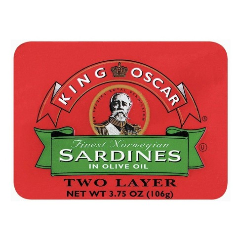 King Oscar Finest Norwegian Sardines in Olive Oil 3.75 oz - image 1 of 1