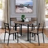 Verve Metal Round Dining Table Antique Brown - ioHOMES - image 3 of 4