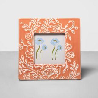 """4"""" x 4"""" Ceramic Frame Peach - Opalhouse™"""