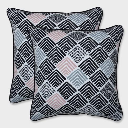 "16.5"" 2pk Belk Shadow Throw Pillows Black - Pillow Perfect - image 1 of 2"