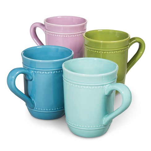 Camille Solid Coffee Mug Set 4pk - Multicolored - image 1 of 5