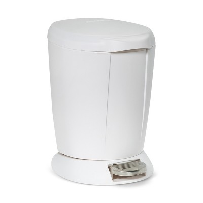 6L Round Step Open Trash Can White - simplehuman