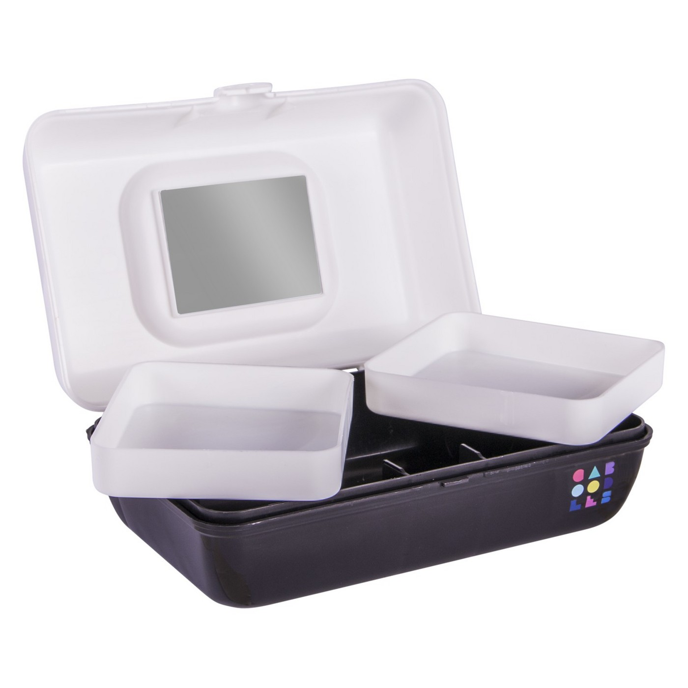 Caboodles Makeup Bags And Organizers Retro Pretty in Petite - White/Black - image 1 of 3