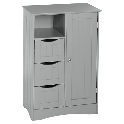 Ashland Collection - 1-Door, 3-Drawer Floor Cabinet - Gray - RiverRidge®