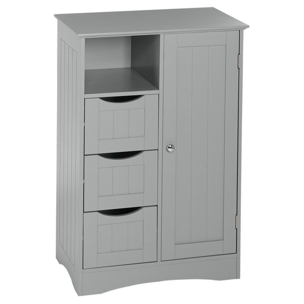 Ashland Collection - 1-Door, 3-Drawer Floor Cabinet - Gray - RiverRidge