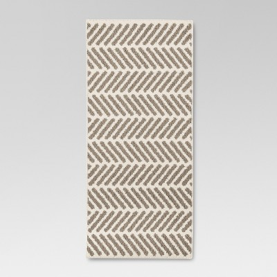 Neutral Chevron Accent Kitchen Rug (1'8 X4'2 )- Threshold™
