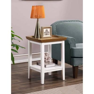 Ledgewood End Table Driftwood Top/White Frame - Breighton Home