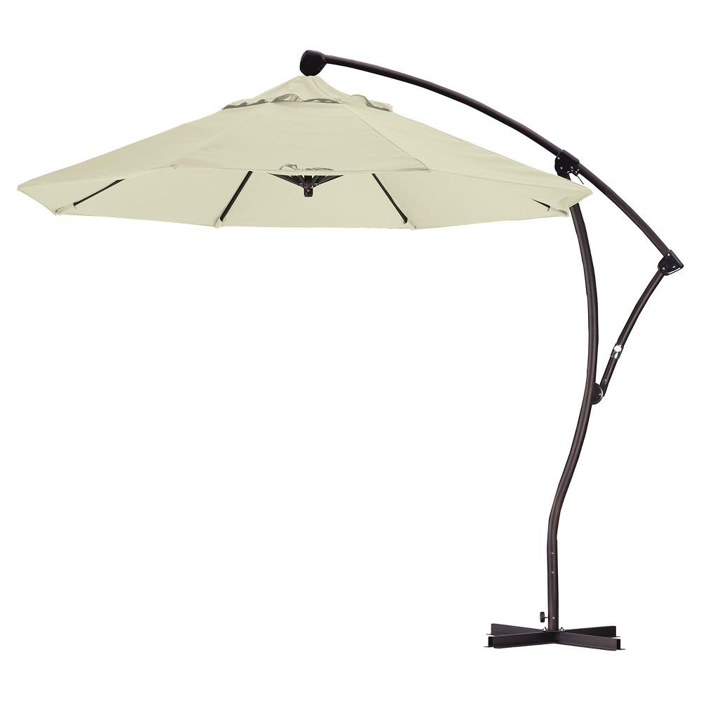 9' Aluminum Crank Lift Patio Umbrella - Canvas
