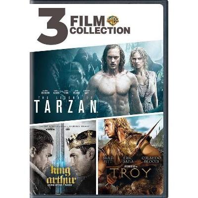 3 Film Collection: Legend Of Tarzan / King Arthur / Troy (DVD)(2019)