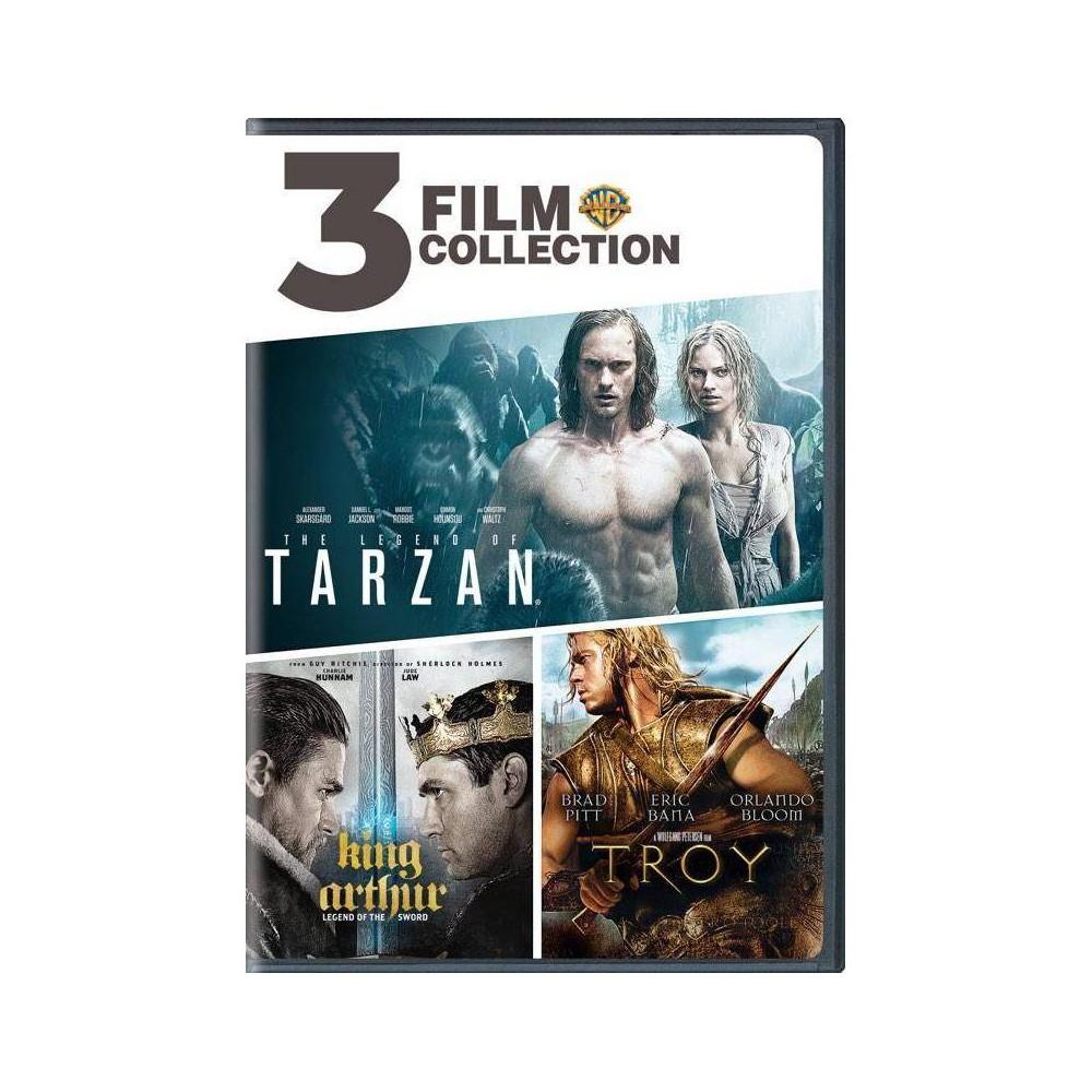 3 Film Collection Legend Of Tarzan King Arthur Troy Dvd 2019