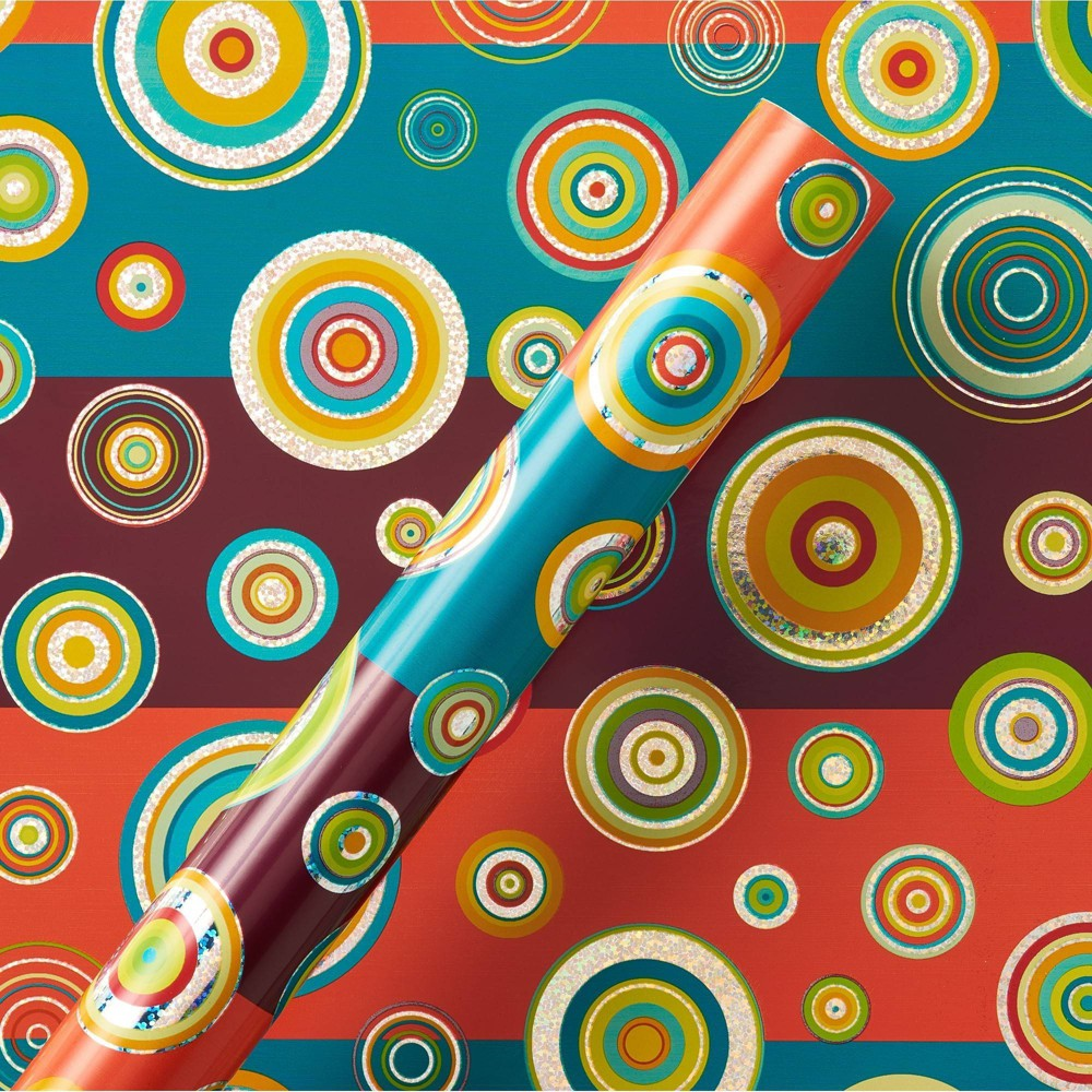 Image of Abacus Circles Roll Wrap - PAPYRUS