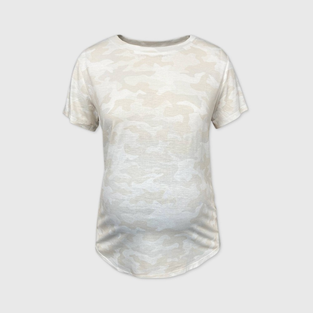 Maternity Camo Print Short Sleeve T Shirt Isabel Maternity By Ingrid 38 Isabel 8482 Gray Xs