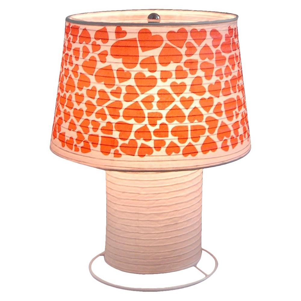 Image of Paper Heart Desk Lamp, Light Cream