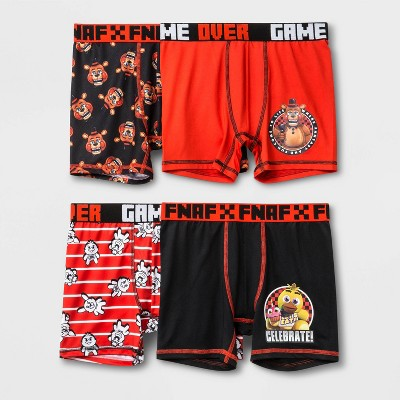 Boys' Five Nights at Freddy's 4pk Boxer Briefs