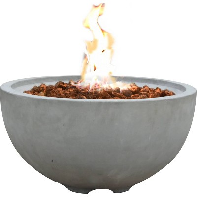 "Nantucket 27"" Natural Gas Fire Pit Outdoor Backyard Patio Heater - Elementi"