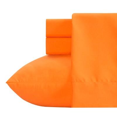 Crayola Orange Microfiber Sheet Set (Twin) 3pc