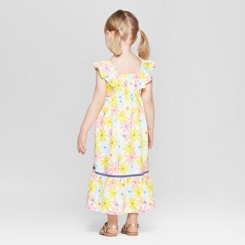 4ca90e5dd Toddler Girls' Challis Maxi Dress - Cat & Jack™ Yellow : Target