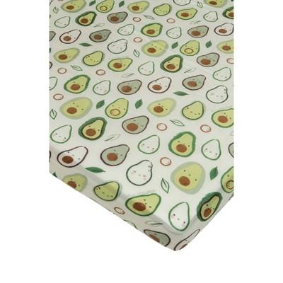 Loulou Lollipop Muslin Fitted Crib Sheet - Avocado