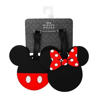 Disney Mickey & Minnie 2pc Rubber Luggage Tag