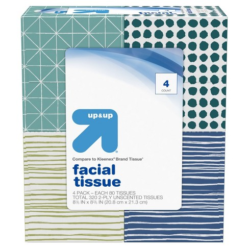 Unscented Facial Tissue - 4pk - Up&Up™ - image 1 of 7