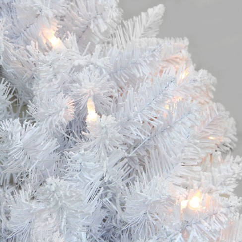 Northlight 9 X 12 Prelit Flocked Snow White Artificial Christmas Garland Clear Lights