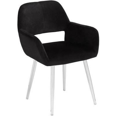 55 Downing Street Martin Black Fabric Modern Dining Chair