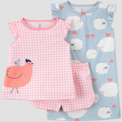 Toddler Girls' 3pc Gingham Pajama Set - Just One You® made by carter's