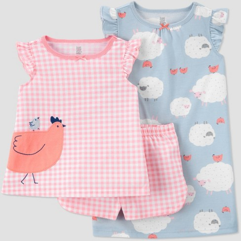 Toddler Girls' 3pc Gingham Pajama Set - Just One You® made by carter's - image 1 of 3