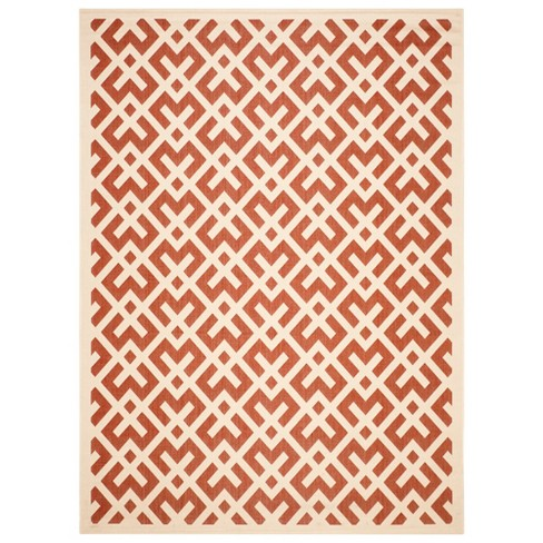 Courtyard Patio Rug - Natural / Red - Safavieh® - image 1 of 1