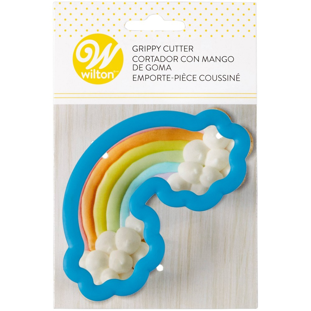 Image of Wilton Grippy Cookie Cutter - Rainbow, Blue