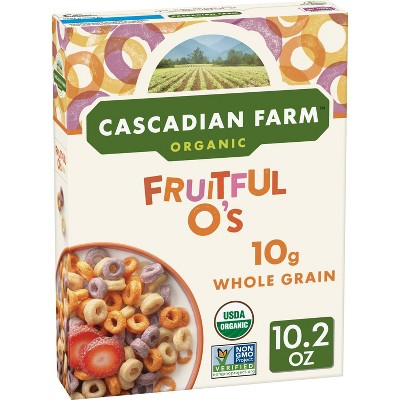 Breakfast Cereal: Cascadian Farms Fruitful O's