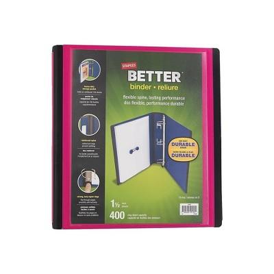 "Staples 1.5"" 3-Ring Better Binder Pink (13569-CC) 651746"