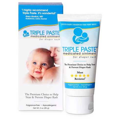 Hairty butt paste for diaper rash caucasian connection