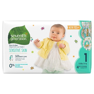 Seventh Generation™ Free & Clear Diapers Size 1 - 40ct