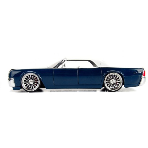 1963 Lincoln Continental Navy Blue With White Top 1 Target
