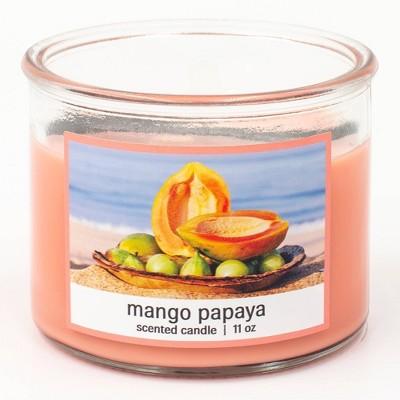 11oz Classico Glass Jar 3-Wick Mango Papaya Candle