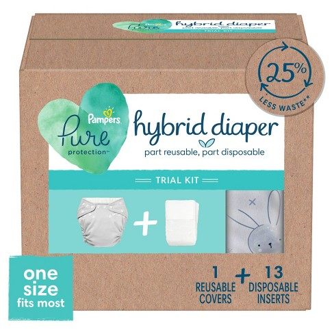 Pampers Pure Hybrid Kits - Reusable Cloth Diaper Covers + Disposable Inserts - (Select Count) - image 1 of 4
