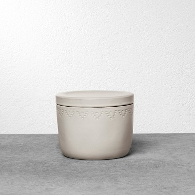 Stoneware Storage Canister Small - Cream - Hearth & Hand™ with Magnolia