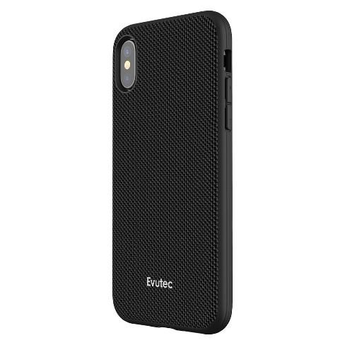 uk availability 62b87 96b76 Evutec iPhone X Nylon Case Ballistic With Vent Mount - Black